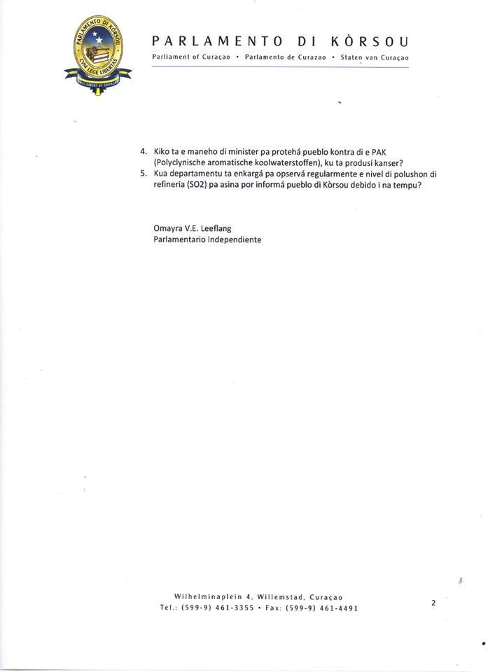 Staten vragen Leeflang Isla 2